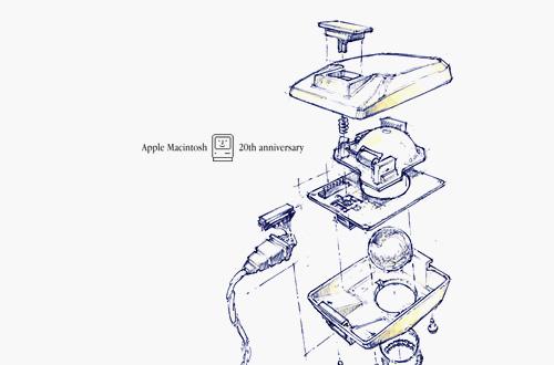 Macintosh 鼠标的设计图