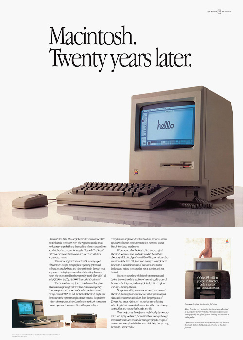 Macintosh. Twenty years later.
